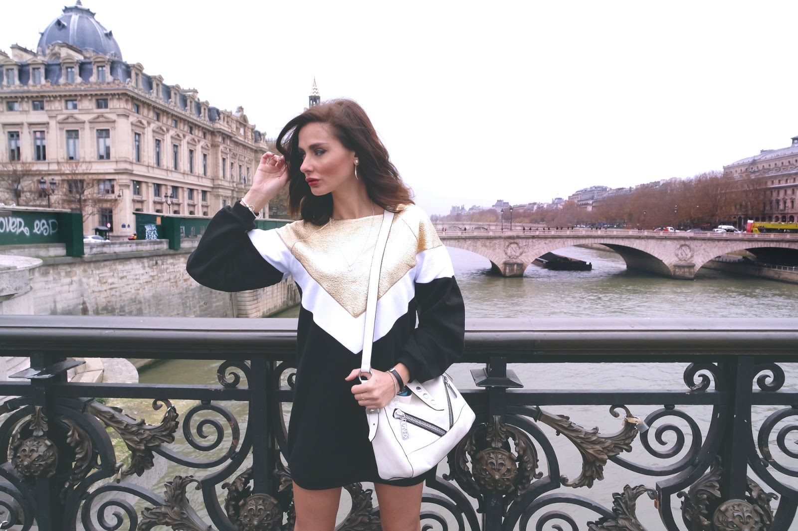 Pont Notre Dame with Gaelle Bonheur!